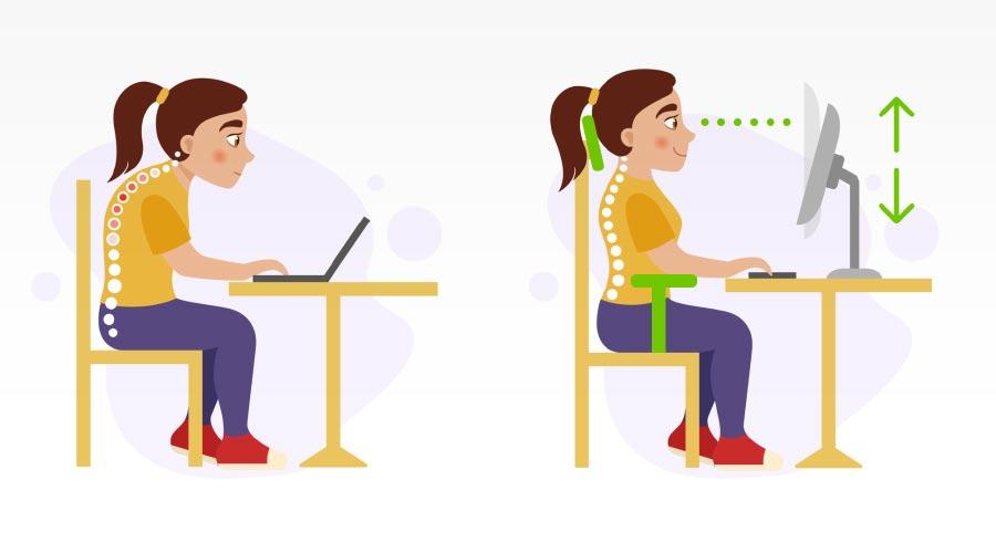 Posture à adopter pour le travail de bureau