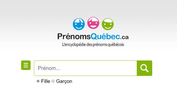 Prénoms Québec